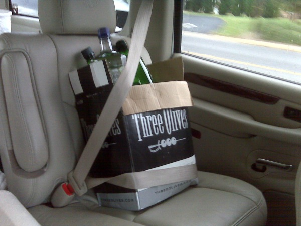 Safety first ... buckle up the booze!