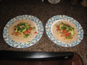 Holy Brandon Walsh, Batman! It's a shrimp taco dinner for two.